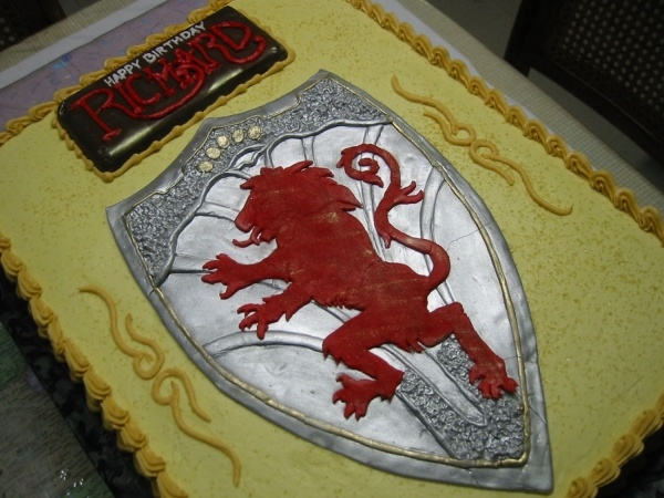 Aslan's Shield Cake from The Chronicles of Narnia: The Lion, the Witch and the Wardrobe