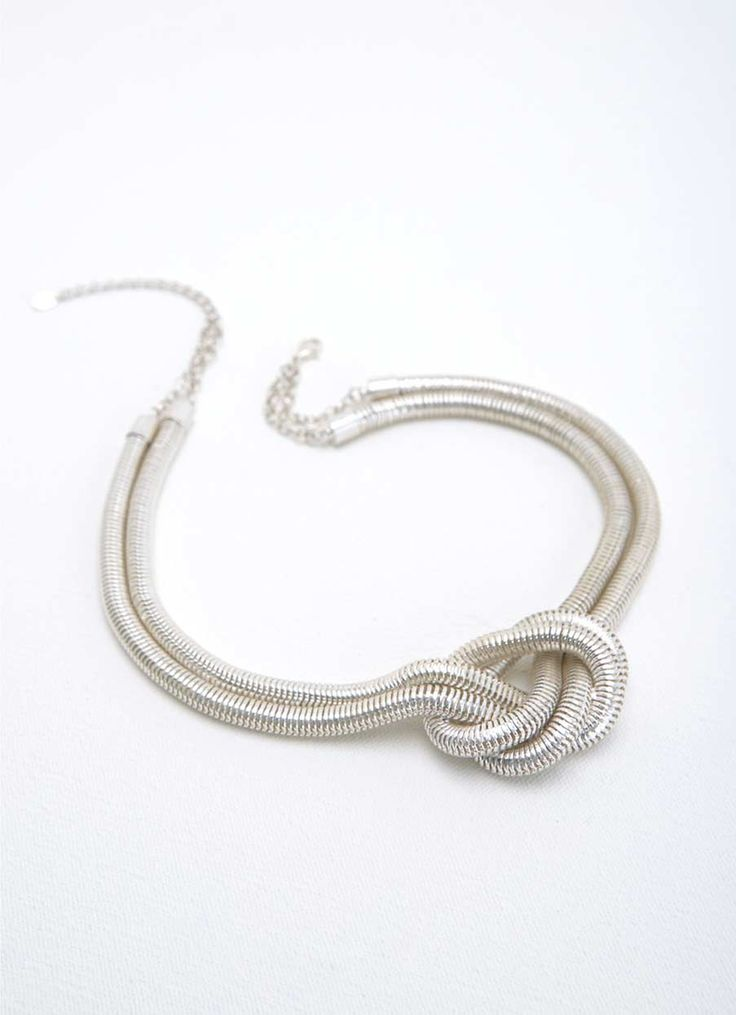 SILVER TONE KNOT NECKLACE | Mint Velvet