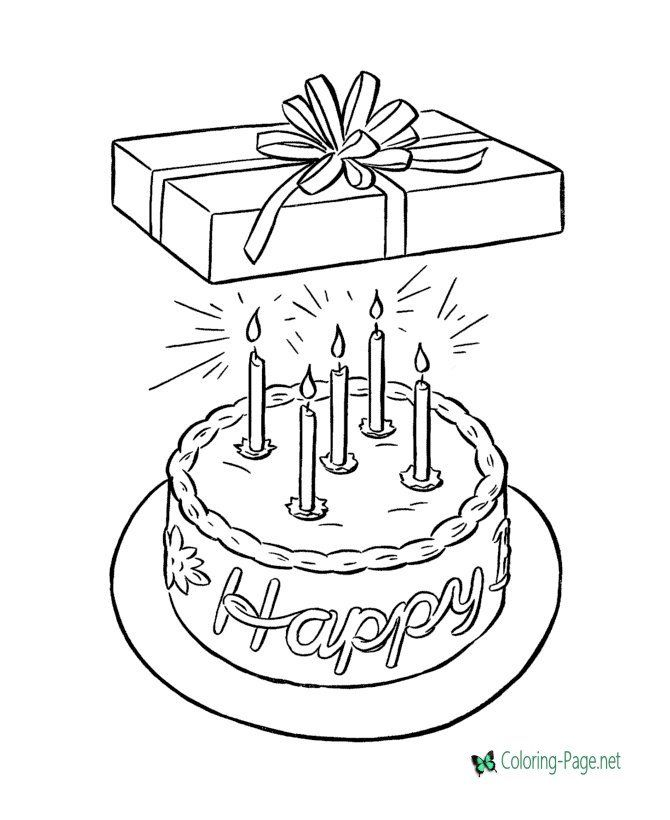 Birthday Presents Coloring Pages Birthday Coloring Pages In 2020 Birthday Coloring Pages Happy Birthday Coloring Pages 20th Birthday Presents