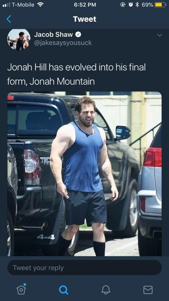 Jonah Hill Has Evolved Into His Final Form Jonah Mountain Funny