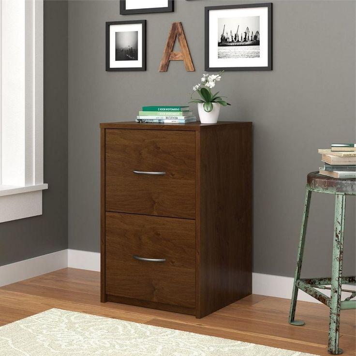 2 Drawer File Cabinet Office Home Wood Storage Furniture Room Filling Organizer…