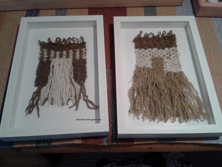almatelar: tapices decorativos...LANA en diferentes estados
