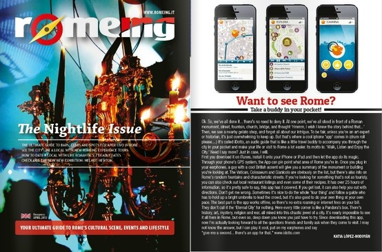 Ehy, iDotto is on Roeming a great magazine about Rome's cultural scene events and lifestyle! Take a look!! http://issuu.com/romeing/docs/romeing_aprile2013/ ++++++++++++++++++++++++++   iDotto è anche su Romeing! Leggete la recensione www.romeing.it/... #rome #roma #italy #italia #travel #guide #viaggi #guida