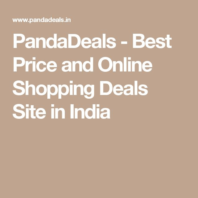 PandaDeals - Best Price and Online Shopping Deals Site in India
