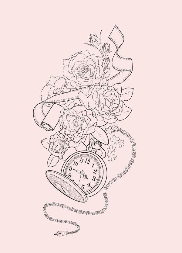 42 besten taschenuhr bilder auf pinterest taschenuhren tattoo zeichnungen und kompass. Black Bedroom Furniture Sets. Home Design Ideas