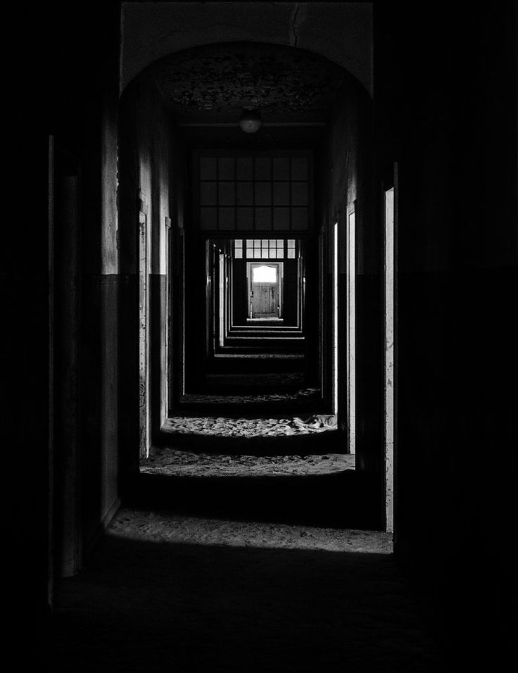 The Door at the end of the Hospital Hallway - Taken at Kolmanskop