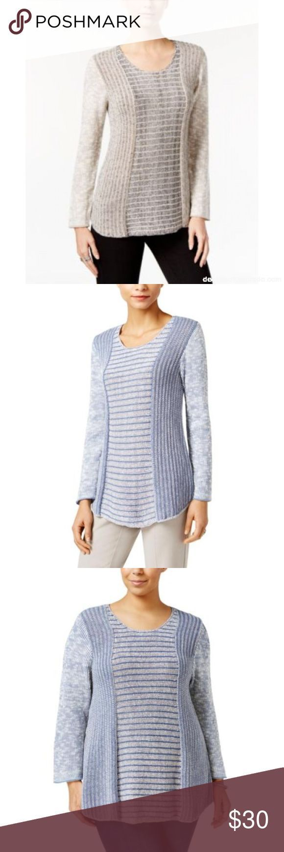 Style amp;Co Pullover Tunic Sweater – Beige Black – M NWT Never Worn (Has Macys …