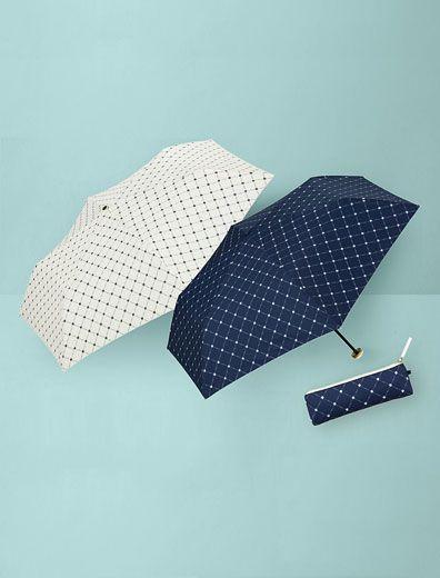 クロスフラワー晴雨兼用折りたたみ傘〈ダブリューピーシー〉