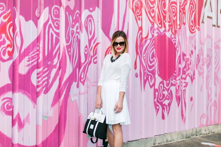 An all white outfit   Black and white outfit   Jetsetter Backpack    @henribendel   Uptown With Elly Brown
