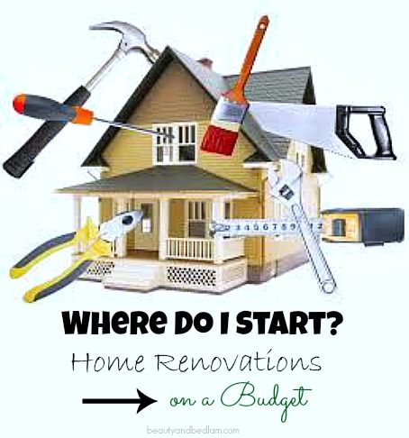 home renovations where do i start when im on a budget - Home Renovation Designs