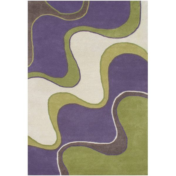 Alliyah Handmade Classic Purple New Zealand Blend Wool Rug ($243) ❤ liked on Polyvore featuring home, rugs, black, plush area rugs, coloured rug, handmade wool rugs, wool rugs and black area rugs