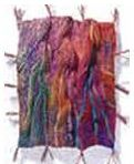 """Textured fabric with Kantha- Understanding the Textile World - """"Rock Ruins & Rock Shadows - Evening"""" - by Jean Draper"""