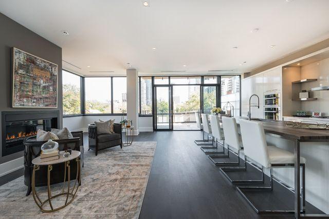 36 Hazelton Ave Unit 4A Kitchen & Family Room Yorkville Luxury Condos Toronto Victoria Boscariol Chestnut Park Real Estate