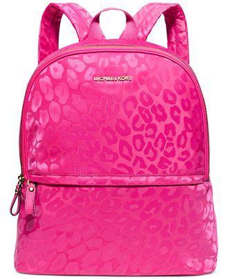 MICHAEL Michael Kors Animal Jacquard Backpack - MICHAEL Michael Kors -  Handbags \u0026 Accessories - Macy\u0027s