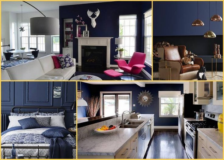 Need some Monday Inspiration? How about a moody blue colour splash for your home?