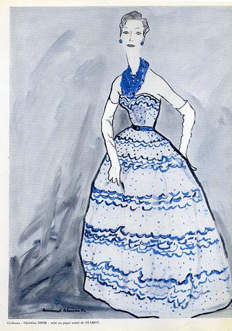 Christian Dior (Couture) 1954 Bernard Blossac