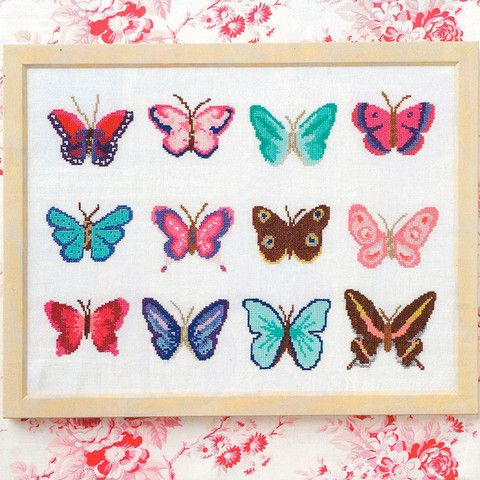 Set of 12 Mini Butterflies - Cross Stitcher PDF
