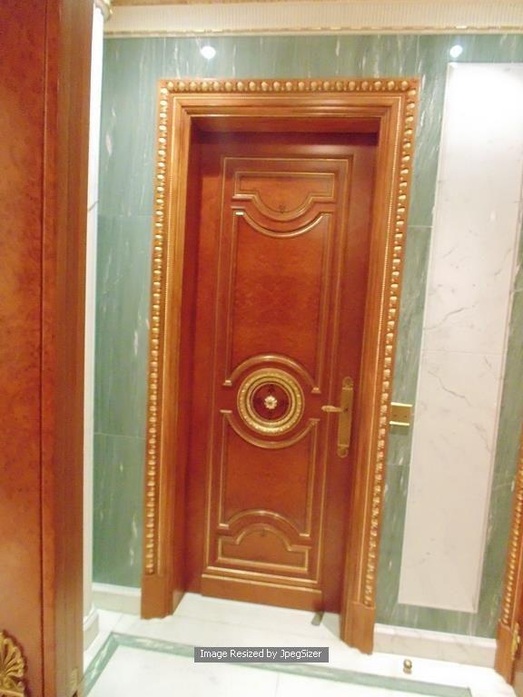 Lot 1245 - A mahogany internal panel doors each door 720mm x 2300mm x 50mm