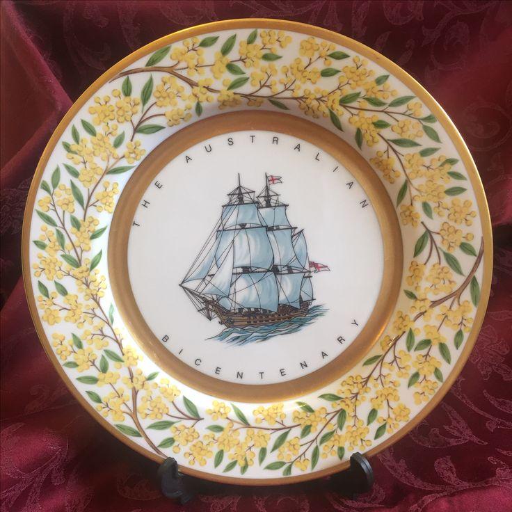 Golden wattle collection Bicentennial plate #2