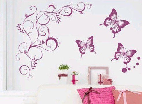 111 best butterfly wall decals images on pinterest for Butterfly bedroom ideas