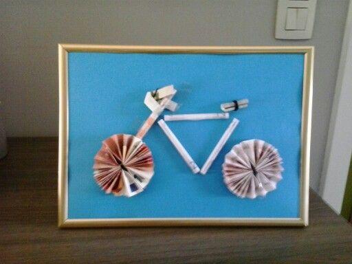 Geld cadeau voor fietser