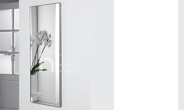 Miroir mural rectangulaire design en inox brossé ALIAS (