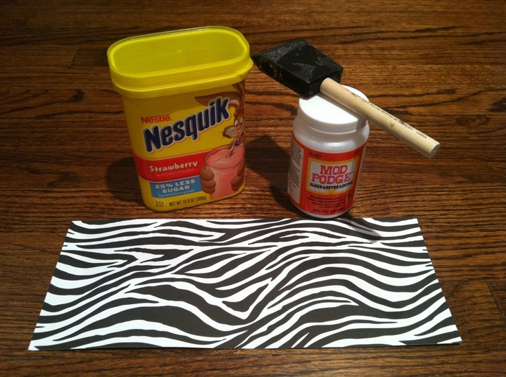 great idea to cover a Nesquik container