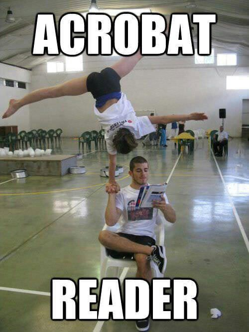 The real Acrobat Reader…