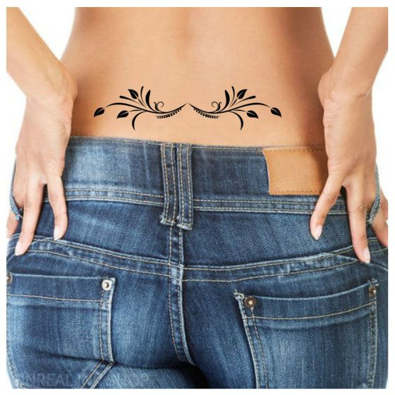 Temporary Tattoo 1 Lower Back Tattoo Ultra Thin by UnrealInkShop