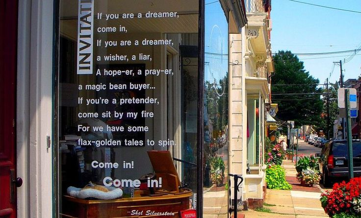 Bookstore window in Annapolis, Maryland.