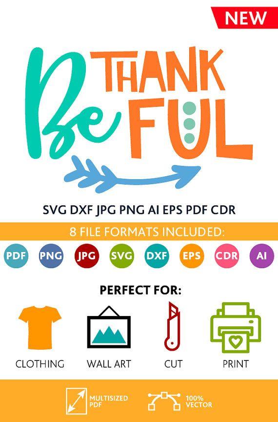 Be Thankful SVG Cut Files Wall Art Quote Printable Art Decor room Art Printable Poster digital (Svg Dxf Cdr Eps Ai Jpg Pdf Png)