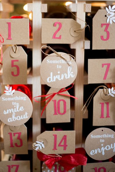 Diy Wine Advent Calendar : Oh what fun diy wine advent calendar world and