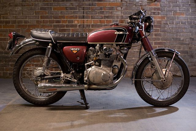 1973 Honda cb350 . Dad had one of these and had a 100 over kit in it making it a 450. Boy would it run!