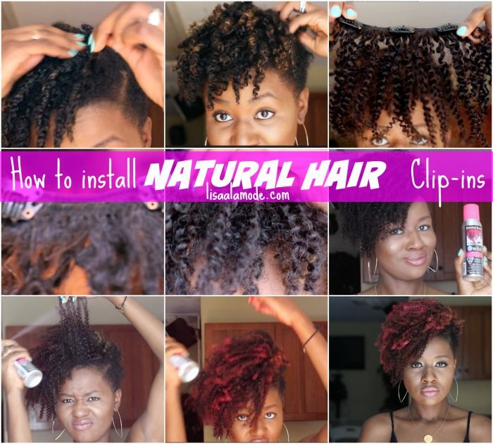 How to Install Natural Hair Clip Ins on a short tapered cut #naturalhair #twa