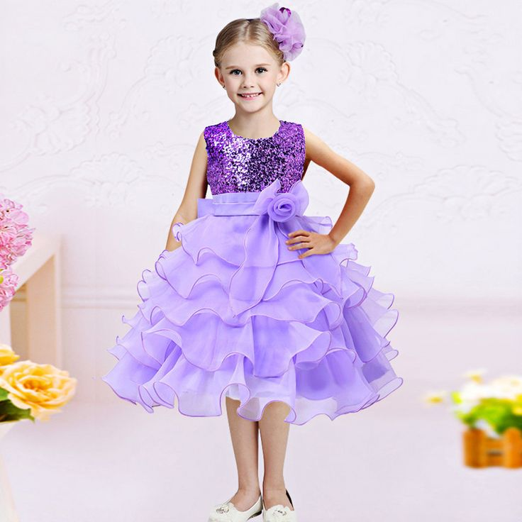 Sequins Flower Children Pageant Dresses for Girls Summer Fashion 2017 Teenager Kid Clothing Princess Birthday  Party and Wedding #Affiliate