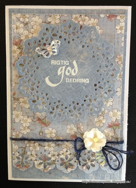 From Annette Koed Ancker in Denmark. Min scrapside: God bedring