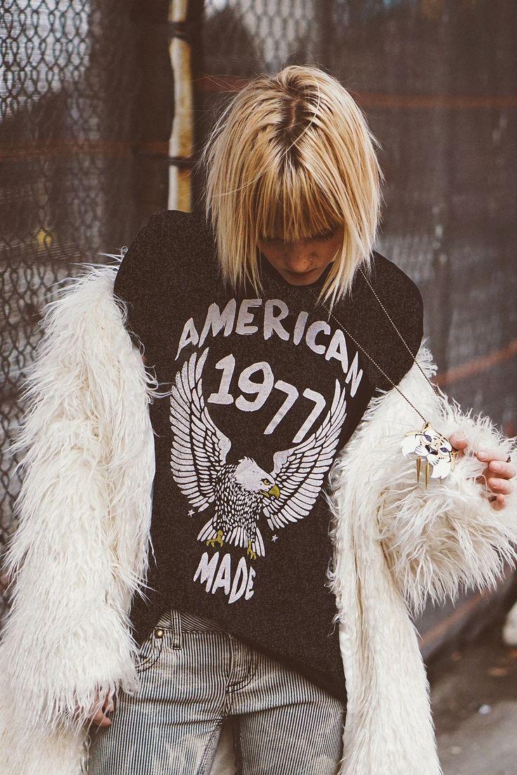 American Made Vintage Tee Vintage Tees American Eagle T Shirts Fashion Tees