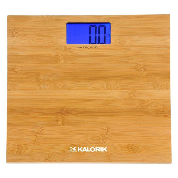Kalorik Digital Bamboo Bathroom Scale - EBS 37070