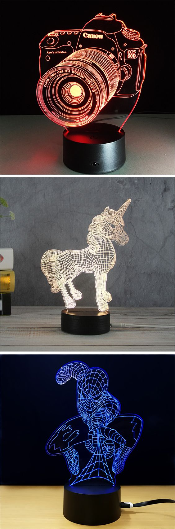 50% OFF Christmas 3D LED Night Lights,Free Shipping Worldwide.