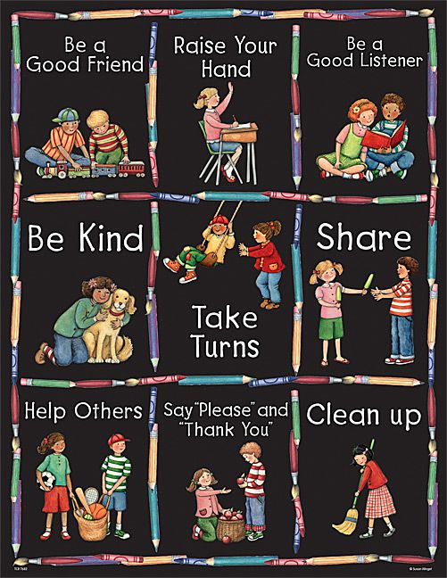 Manners Chart from Susan Winget