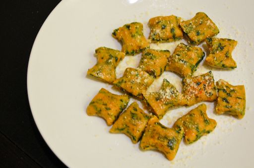 Whole-wheat sweet potato spinach gnocchi. Let's do this! (Just ...