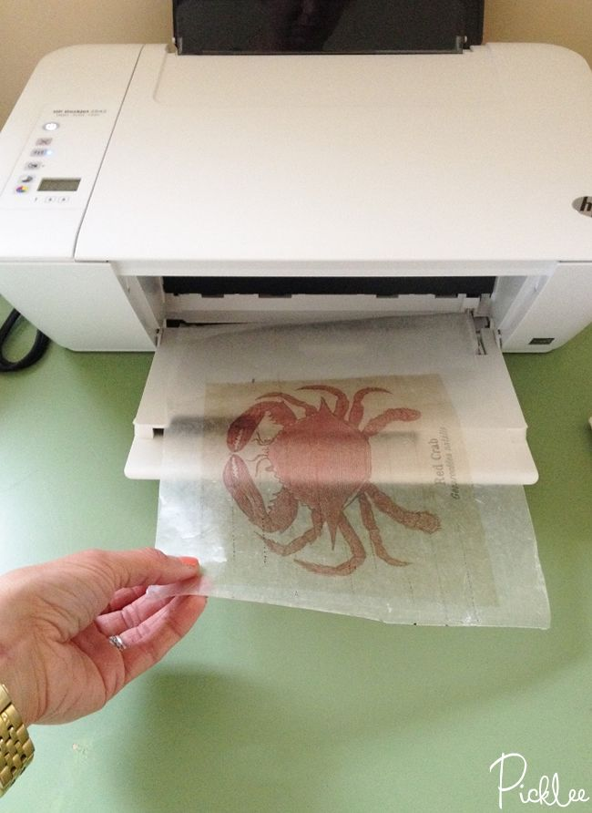 How to print on wax paper for transfer to wood signs!
