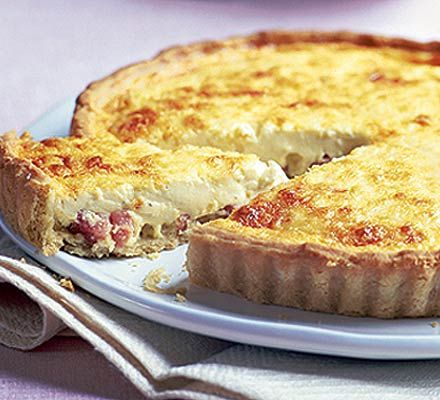 Ultimate quiche Lorraine ~ made this tonight, and it is the crumbliest pastry I have EVER made!!!! Didn't blind bake it though, just pricked base then baked for 25mins, it was perfect.