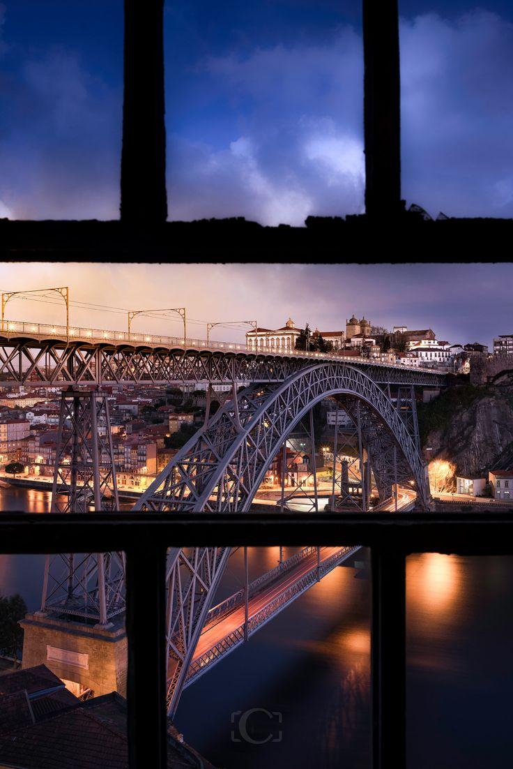 Window Bridge - Ponte D.Luis I, Oporto,Portugal. To learn more about #Porto click here: http://www.greatwinecapitals.com/capitals/porto