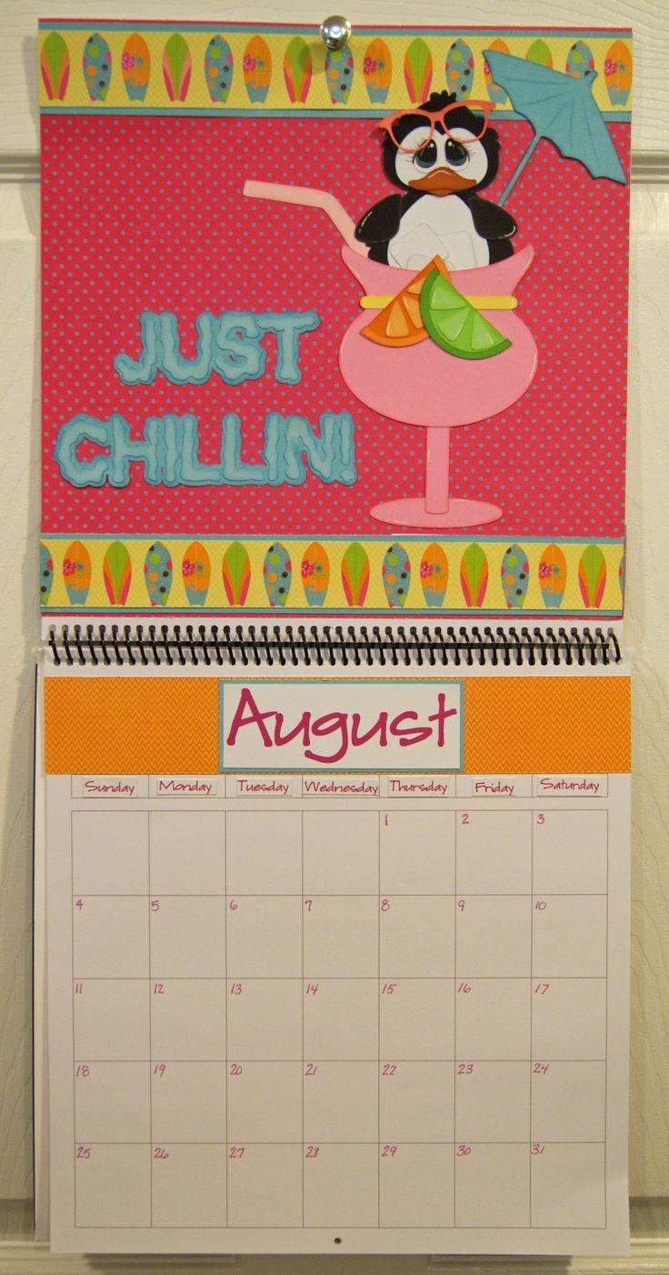 Scrapbook ideas calendar pages - August Calendar Created By Dt Nancie