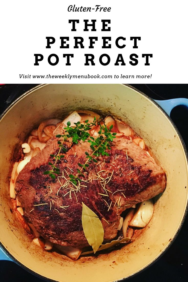 The ultimate comfort food is pot roast cooked down in wine and broth.  The hardest part is waiting because the house smells amazing!