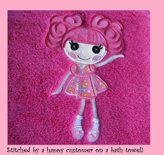 Lalaloopsy Inspired Curly Top Doll Applique by iStitchEmbroidery, $5.00