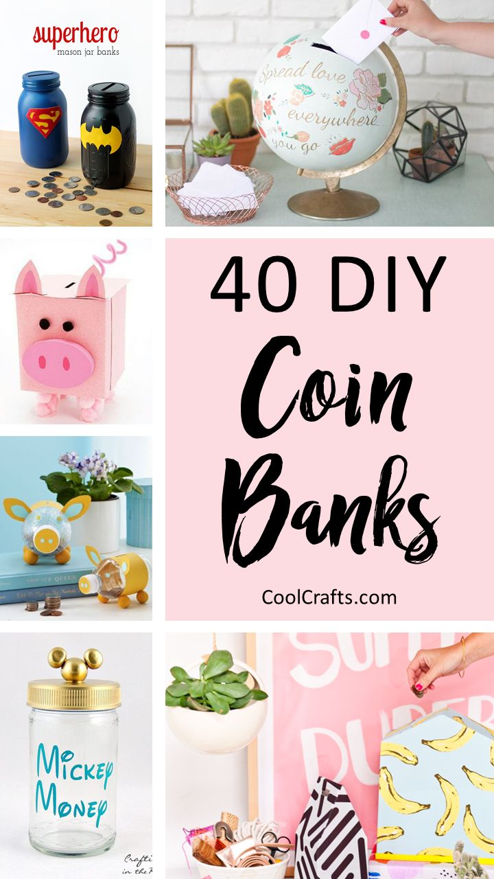 40 Cool Diy Piggy Banks For Kids Adults Featuring Playground