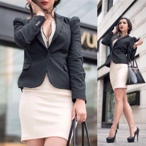 ph1lm:  (via Kristina Byrne - Zara Blazer, That's It Dress - Rachel Zane kinda day   LOOKBOOK)