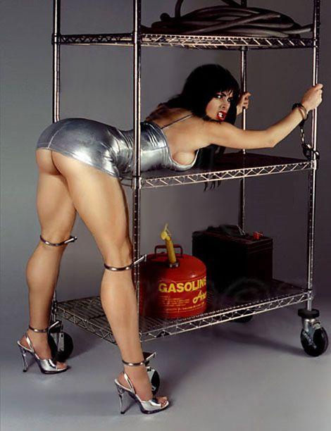 young hispanic model bent over naked